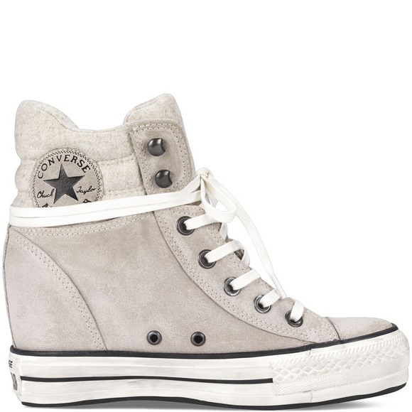 9d4ab72ad767 Converse Shoes - Converse lux Wedge gray suede sneakers