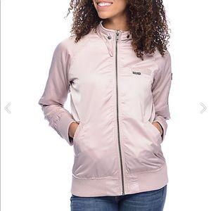 Members Only pink zip up jacket.