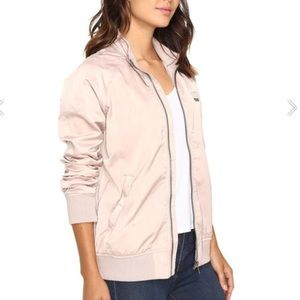 Members Only pink zip up jacket.