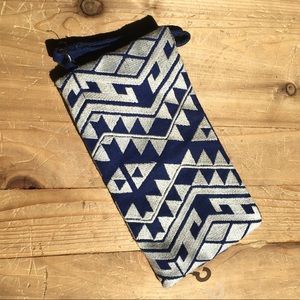 limited edition Bags - Cloth clutch royal blue & white