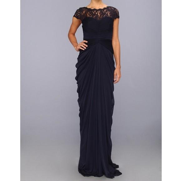 Adrianna Papell Dresses   Lace Yoke Drape Dressgown   Poshmark