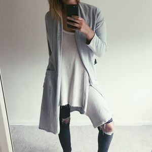 Cozy Grey Cardigan Duster