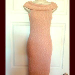 Dresses & Skirts - Beautiful Salmon off the Shoulder Midi Dress
