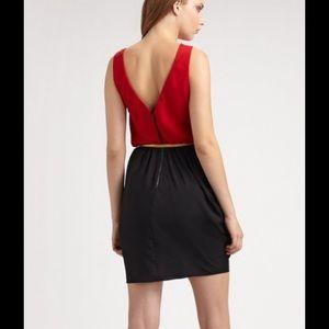 Alice + Olivia Dresses - Alice + Olivia Red/Black Gray Color Block Dress
