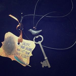 🗝Authentic antique skeleton key necklace