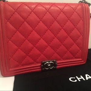 Chanel Red Large Boy Bag MSRP $5200