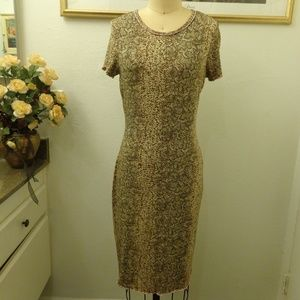 A.B.S by Allen Schwartz Snake Skin Tee Shirt Dress
