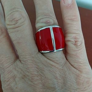 Jewelry - Beautiful red and silver statement ring