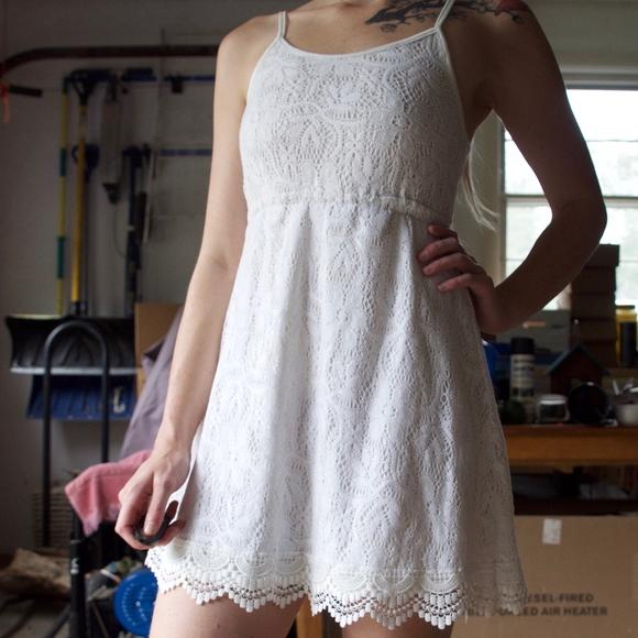 HM White Lace Dress Girls