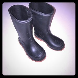 Other - Black Rain Boots size 8 Toddler