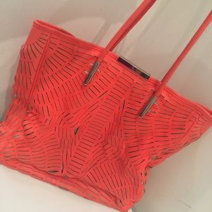 MCQ By Alexander McQueen Laser Cut Leather Tote