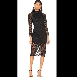 Lavish Alice cross hatch sequin dress UK 6 US XS