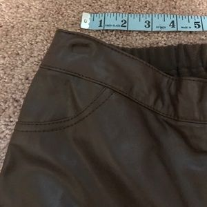 2f0eac3941d93 Jessica London Pants - Jessica London Leather Front Jeggings