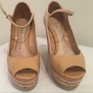Gucci Leather Platform Wedge