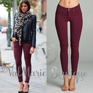 BURGUNDY MEGA STRETCHY PANTS