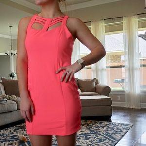 Neon Pink Mini Dress