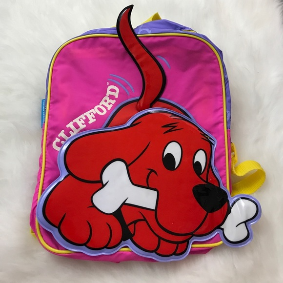 Astonishing Pink Clifford The Big Red Dog Backpack New Plastic Machost Co Dining Chair Design Ideas Machostcouk