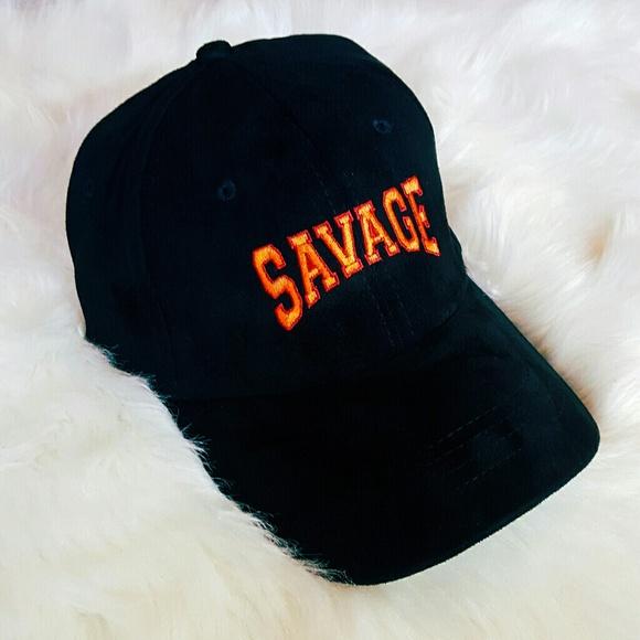 fc891820a23b8 SAVAGE Suede Baseball Hat Dad Cap Black