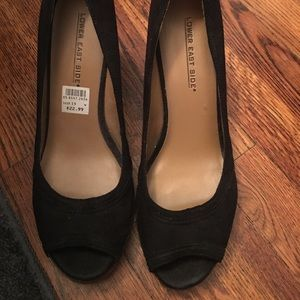 Shoes - Black wedges size 10