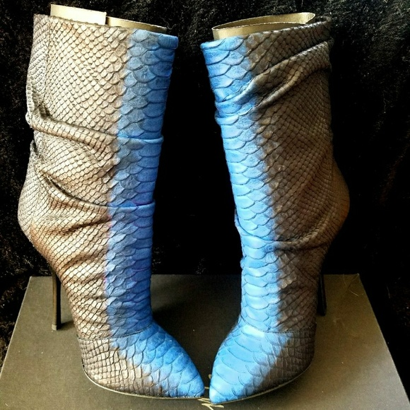 GUISEPPE ZANOTTI bl blk python snake print boots. NWT. Giuseppe Zanotti 1068c1253a35