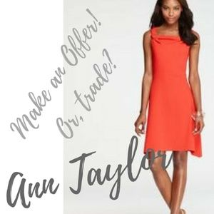 #Coral #AnnTaylor Jersey Dress