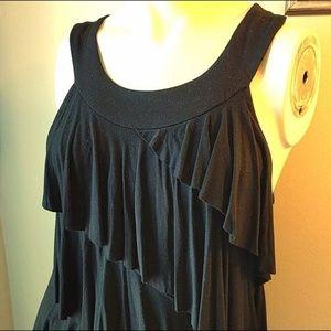 #WHBM Black Jersey Ruffle #LBD