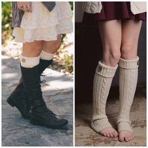 Accessories - Ivory Boot Cuffs