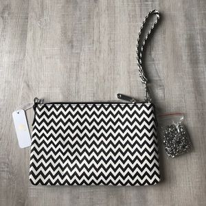 Handbags - Shimmery Chevron wristlet/crossbody purse
