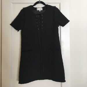 JOA lace up mini dress