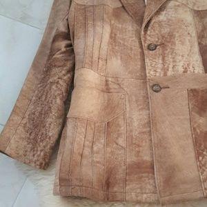 Men's Vintage Robert Lewis Leather Suede Blazer