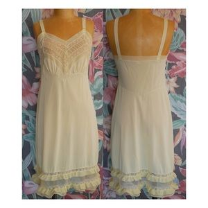 Yellow Vintage Decorative Slip Dress