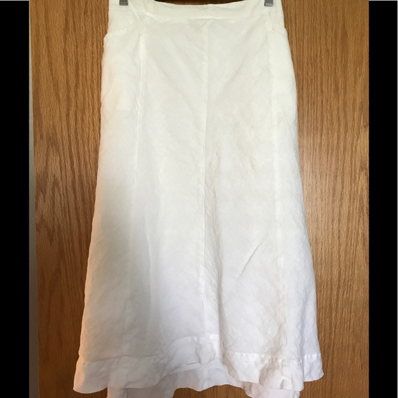 09d4810ba J. Jill Dresses & Skirts - J Jill white linen skirt, large petite