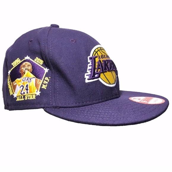 the latest 6ebf8 6636d New Era LA Lakers Kobe Bryant Retirement Hat !! M 5988eda0f739bcfc1d0d82fb