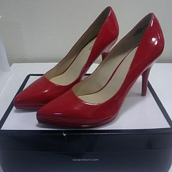 4fe1e476fdf NEW IN BOX..NINE WEST RUBY RED STILETTOS