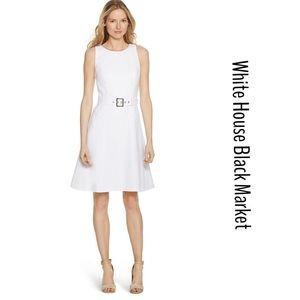 WHBM SKATER SLEEVELESS FIT AND FLARE DRESS