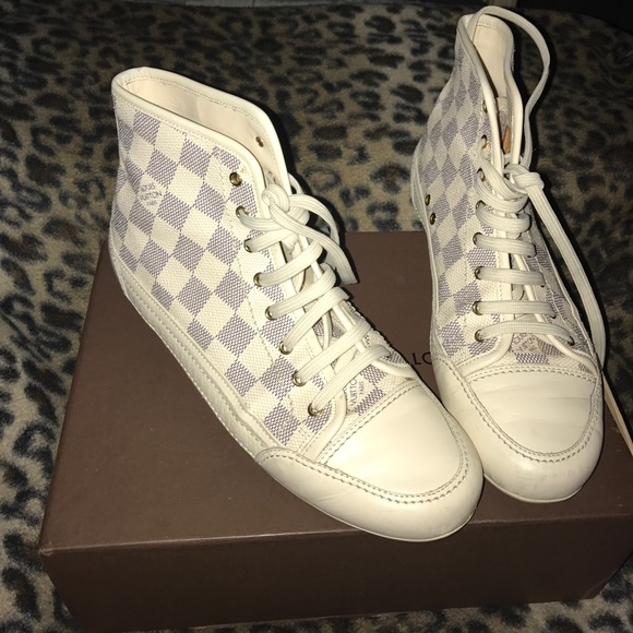 05924f388ed Louis Vuitton Shoes - Louis Vuitton Capucine Damier Azur Sneakers