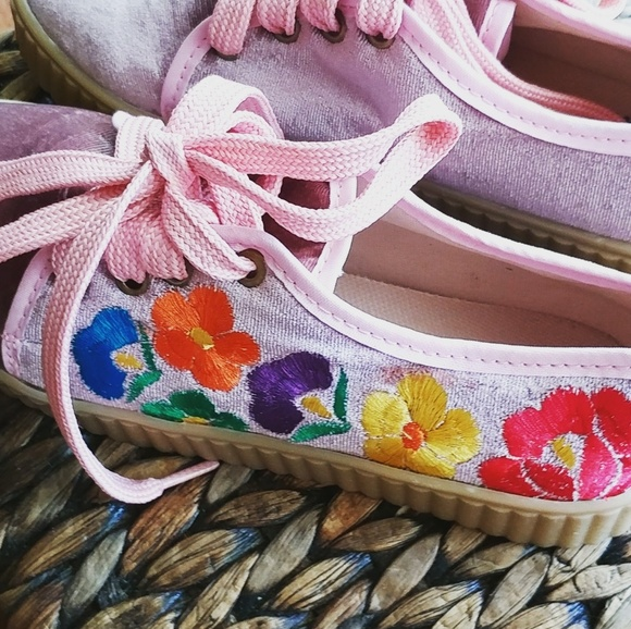 Alquimia Shoes - Platform  embroidered sneakers shoes
