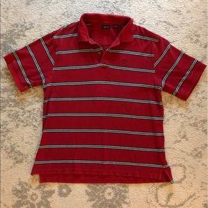 Red & blue striped Men's Izod polo shirt