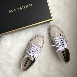 Ava & Aiden Leather Sneakers