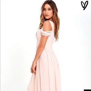 6bb3e7ec5fdf Lulu's Dresses | New Make Me Move Blush Pink Maxi Bridesmaid Dress ...