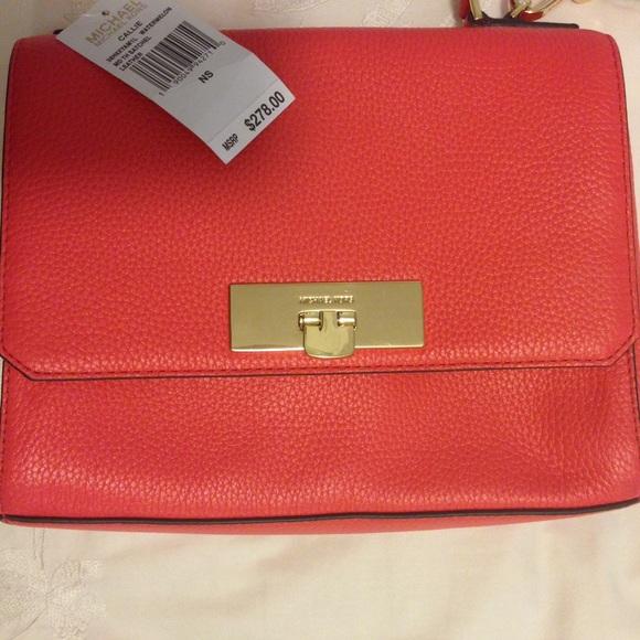 ff21d4da3561 Michael Kors Bags | Callie Med Leather Handbag Satchel | Poshmark