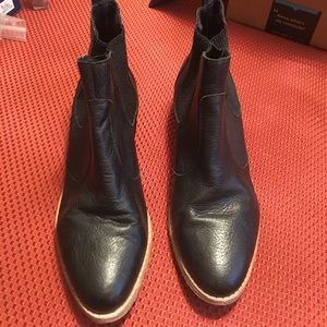 GAP Leather Acne Jensen Ankle Pointed Toe Booties