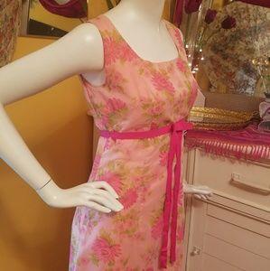 Sweet 60's Vintage Floral Pink Dress!