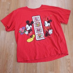 Vintage Minnie and Mickey Mouse T-shirt