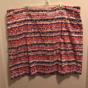 Ann Taylor Skirt - multi-color
