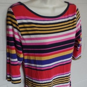 French Connection Dresses - French Connection Multicolor Stripe Stretch Dress