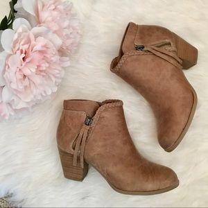 BNWOT Report tan heeled booties