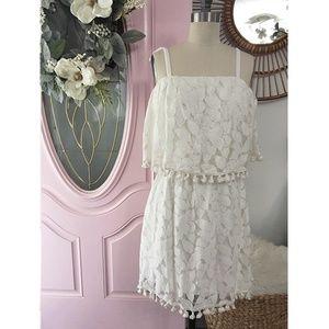 ✨❗️ LAST CHANCE ❗️✨ Xhilaration Ivory Tassle Dress