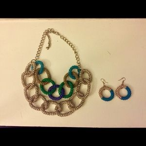 Accessories - Necklace and earring - great colors