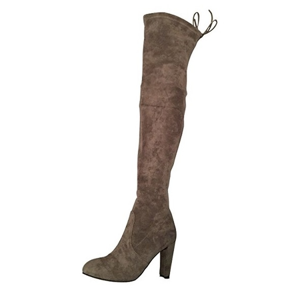 5465720f476 NWT Kaitlyn Pan microsuede over the knee boots